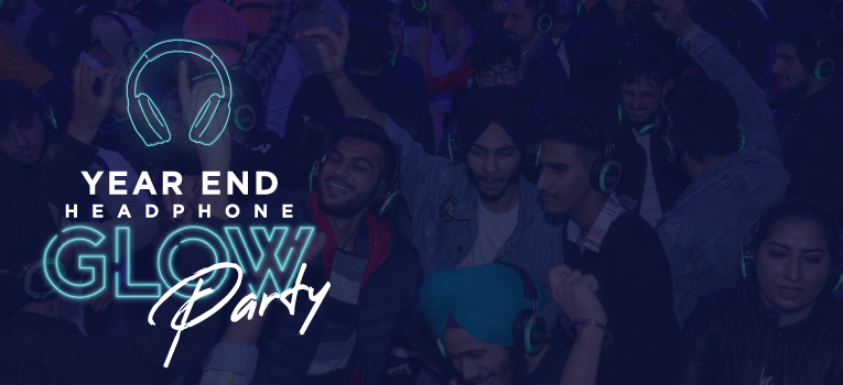 Year End Headphone Glow Party